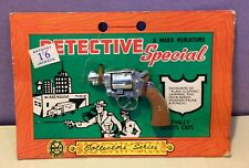 Marx Miniature RARE Carded Toy Model Detective Special Pistol/Superb!