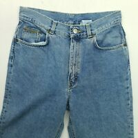 Calvin Klein Womens Carrot High Rise THICK DENIM Vintage Jeans W30 L33 Tapered