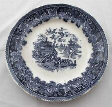 "Antique Wade Flow Blue SHANGHAI Luncheon or Salad Plate, 8 3/4"", England"
