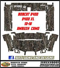 BOBCAT 3400  3400 XL 10-15 side by side ambush camo Wrap Decal Sticker kit