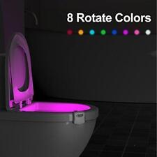 8 Color Motion Sensor Automatic Seats LED Light WC Toilet Bowl Bathroom Lamp New
