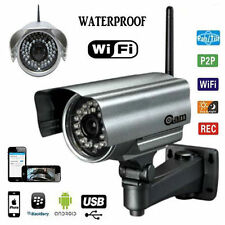 TELECAMERA IP CAMERA CAM WIRELESS PER ESTERNO INFRAROSSI 24 LED VISIONE DA CELL