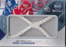 2014-15 UD SP GAME USED DANIEL ALFREDSSON NET CORD /35 WINTER MATERIALS #WCML-DA