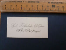 More details for british india raj calling card business syed f abubakr el edroos