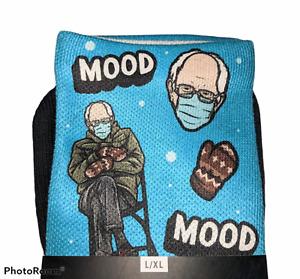 NEW Rare ROCK EM Brand Customized BERNIE SANDERS Mood Meme Crew Socks L/XL