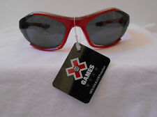 SUNGLASSES YOUTH  X GAMES GEAR SPORT RED SCRATCH DEFECT NWT