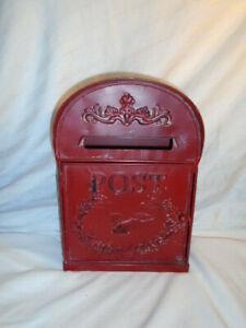 Vintage Tin  English Mail Box