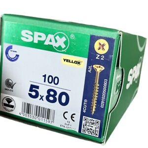 SPAX Screws Yellox Pozi Countersunk Full Thread 4Cut Point 16mm-120mm Lengths