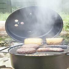 More details for uk-gardens steel outdoor food smoker teflon coated bbq with lid in black