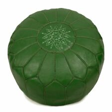 Moroccan genuine leather pouf unstuffed green free shipping