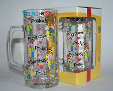 "HANDLED BEER TANKARD MUG ""PRZEPIS NA SEKS""  FUNNY 1PINT 570ml BIRTHDAY PUB GLASS"