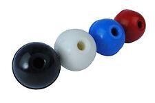 Set X 4 Plástico Rojo Negro Azul Blanco balls/knobs máquina Asas 40 Mm Diám. s7406