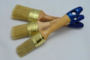 50 40 30 Oval PERFECT Paint Brush Set, Shabby Chic Chalk Paint, Pure Bristle Mix