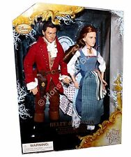 Belle & Gaston Doll Set Live Action Beauty & the Beast Disney Store Free Ship