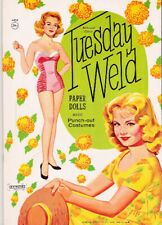 Vintage Tuesday Weld Paper Dolls~Uncut 1961 #1 Reproduction~Choice Of Covers!
