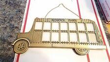 Vintage School Days Bus Brass Picture Frame Grades 1st-12