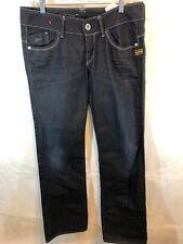G Star 3301 KBWG100 Dark Wash Blue Jeans Lynn Loose WMN 29x34  Raw Denim Solid