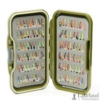 Waterproof Fly Box + Mixed Glow In The Dark Buzzer's Flies for Trout Fishing