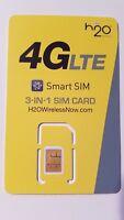 H20 H2O SIM card • Moto Z Z2 Z Play Z2 Play X X4 - READ INSIDE
