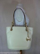 NWT Michael Kors Natural/Soft Cream Pebbled Leather Mdm Jet Set Tote Bag $248