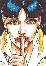 Vampirella 2011 Trading Cards Sketch Card drawn by Scott Zambelli /1
