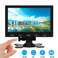 "7"" inch LCD CCTV Monitor HD PC Screen AV/RCA/VGA/HDMI Video w/ Speaker 1024x600"