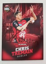 CHRIS TREMAIN CRICKET SIGNED IN PERSON BBL BIG BASH CARD GENUINE Tap n Play