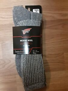 Red Wing Merino Wool Socks Crew Arch Support Wicking Men's New Size XL 12-16