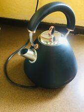 MORPHY RICHARDS ELECTRIC TRADITIONAL KETTLE BLACK & ROSE GOLD VERY GOOD COND