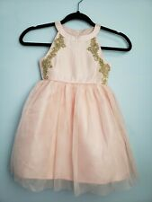 Us Angels Pink Dress Flower Girl Special Occasion Dress Pink Party Blush Size 4