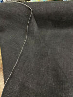 100% Linen Highland Black Belgian Fabric By the Yard
