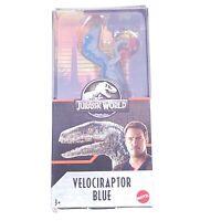 Mattel - Jurassic World Dinosaur Figure - VELOCIRAPTOR BLUE (6 inch) GFM01 - New