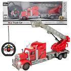 1:15 Kids RC Toy Remote Control Rescue Fire Truck With Lights Extending Ladder