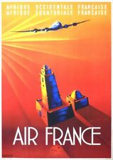 Air France   French Equatorial Africa   Vintage Travel Poster   A1, A2, A3