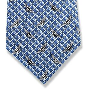 Hermes Blue Limited Edition VIP BENTLEY Twill Silk Tie 9,5CM 5355 TA Rare, BNIB!
