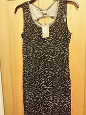 BENCH SIZE S BLACK PRINTED DRESS NEW WITH TAGS