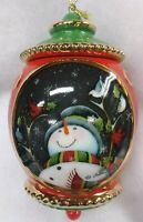 Precious Moments Porcelain Gold Trimed Adorable Snowman Xmas Ornament @Macy's$62