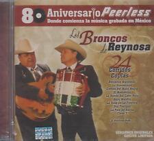 CD - Los Broncos De Reynosa NEW 24 Corridos Coplas Peerless FAST SHIPPING !