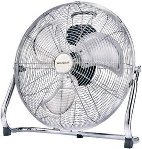 Windmaschine silber 45cm 100W 7367,4m³/h Bodenventilator Boden Ventilator SC