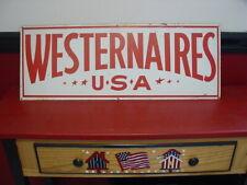 Westernaires Usa Horse Original Large Metal Sign Horse Riding Advertising