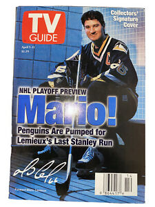 Collector's Signature Cover April 1997 TV Guide Mario Lemieux Pittsburgh Penguin
