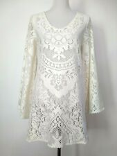 Spell & The Gypsy Womens White Dove Vintage Lace Mini Dress AU 10 US 6 (S)