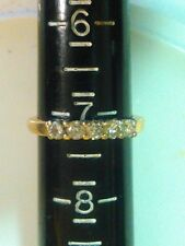 14k YELLOW GOLD Diamond WEDDING/ANNIVERSARY Band Ring, 1/2 TCW, Size 7.5