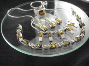Sterling Silver set with amber Baltic