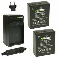 Wasabi Power Battery (2-Pack) and Charger for Olympus BLH-1