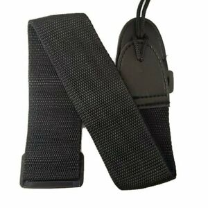New Black Nylon Adjustable Acoustic Electric Soft Guitar Bass Strap Youth Kids