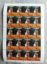 CHRIS EVERT Unused Complete TENNIS Stamp Sheet St Vincent