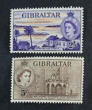 Ckstamps: Gb Stamps Collection Gibraltar Scott#142 143 Mint H Og