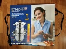 Brand New Zepter 12 PCS Wide Edge Cooking Pots (packed in plastic bags)