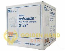 5000 2x2 Non Woven Sponges 4 Ply Non Sterile Cotton Dental Gauze 1 Case
